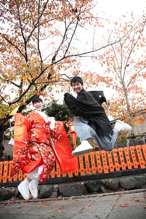 京小町撮影の紅葉での和装前撮り