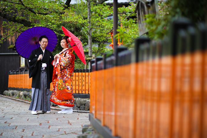 京都の祇園で和装前撮り