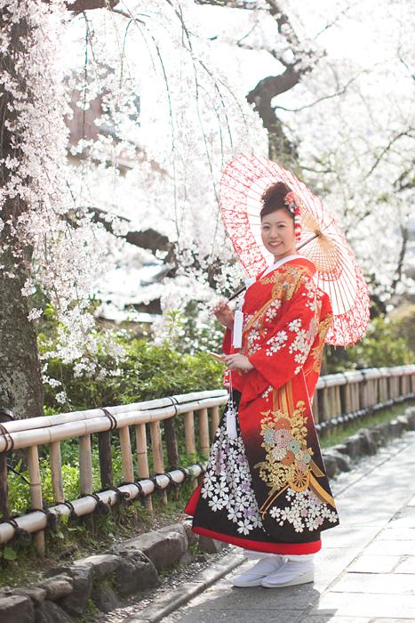 桜の季節の前撮り