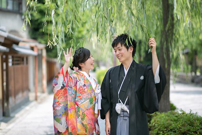 京都の祇園にて前撮り